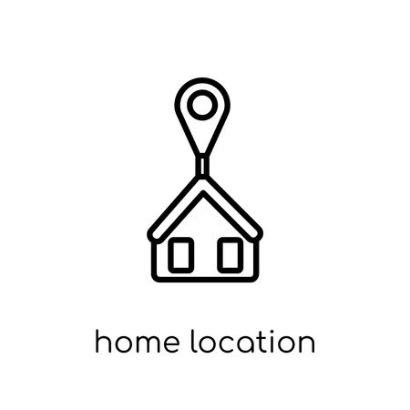Home Location icon. Trendy modern flat linear vector Home Location icon on white background from thin line Maps and Locations collection, editable outline stroke vector illustration Banco de Imagens - 112137951