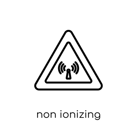 non ionizing radiation icon. Trendy modern flat linear vector non ionizing radiation icon on white background from thin line Health and Medical collection, outline vector illustration