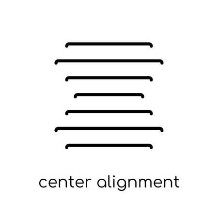 center alignment icon. Trendy modern flat linear vector center alignment icon on white background from thin line Geometry collection, outline vector illustration Çizim