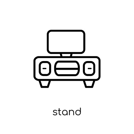 stand icon. Trendy modern flat linear vector stand icon on white background from thin line Furniture and household collection, outline vector illustration Illustration