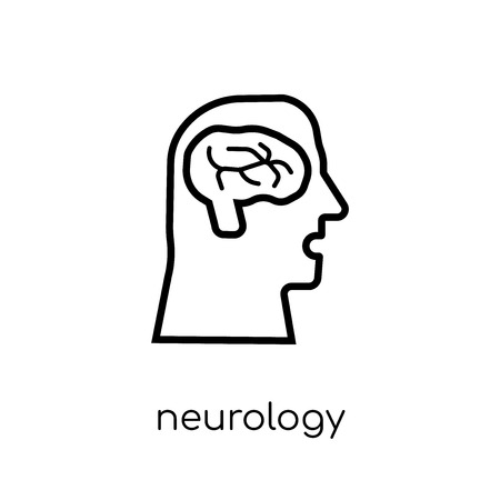 Neurology icon. Trendy modern flat linear vector Neurology icon on white background from thin line Health and Medical collection, editable outline stroke vector illustration