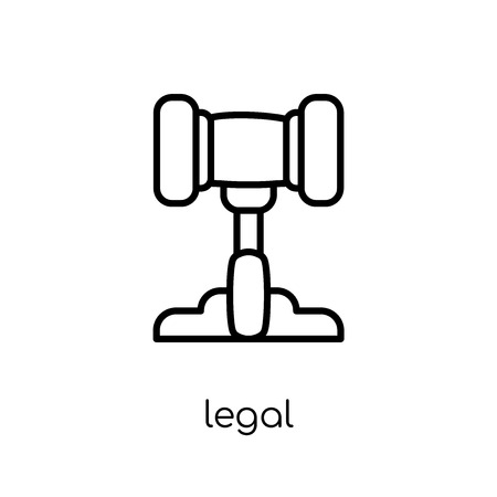 Legal icon. Trendy modern flat linear vector Legal icon on white background from thin line law and justice collection, editable outline stroke vector illustration