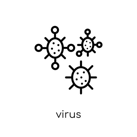 virus icon. Trendy modern flat linear vector virus icon on white background from thin line collection, outline vector illustration Stock Illustratie