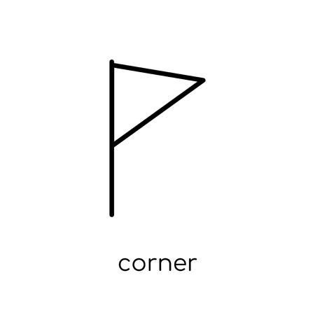 corner icon. Trendy modern flat linear vector corner icon on white background from thin line Geometry collection, outline vector illustration Çizim
