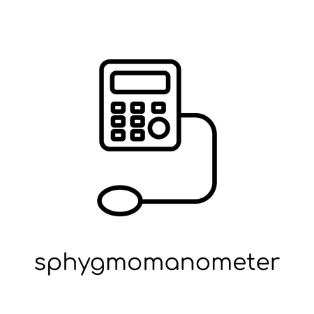 Sphygmomanometer icon. Trendy modern flat linear vector Sphygmomanometer icon on white background from thin line Health and Medical collection, editable outline stroke vector illustration