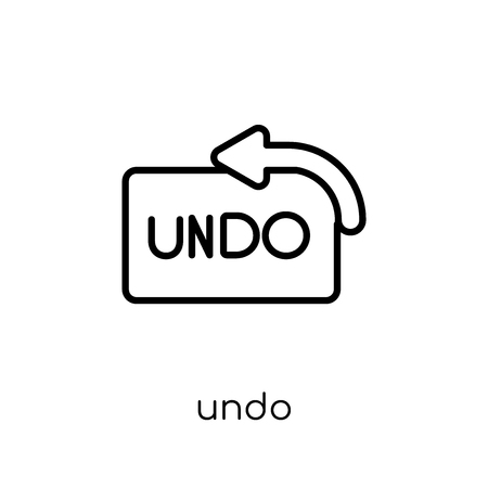 undo icon. Trendy modern flat linear vector undo icon on white background from thin line collection, outline vector illustration