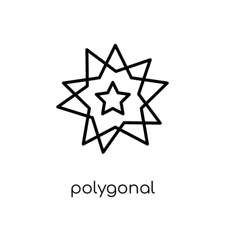 polygonal multiple stars icon. Trendy modern flat linear vector polygonal multiple stars icon on white background from thin line Geometry collection, outline vector illustration 向量圖像