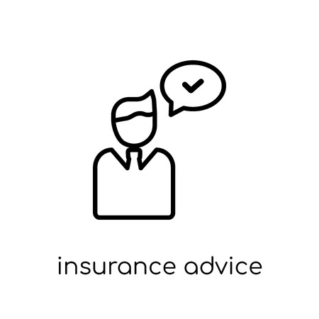 insurance advice icon. Trendy modern flat linear vector insurance advice icon on white background from thin line Insurance collection, editable outline stroke vector illustration