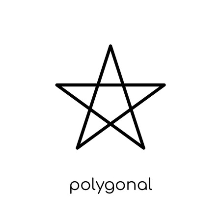 polygonal ascendant signal icon. Trendy modern flat linear vector polygonal ascendant signal icon on white background from thin line Geometry collection, outline vector illustration Иллюстрация