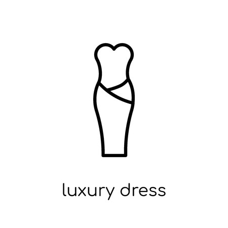 luxury Dress icon. Trendy modern flat linear vector luxury Dress icon on white background from thin line Luxury collection, editable outline stroke vector illustration Foto de archivo - 112136732