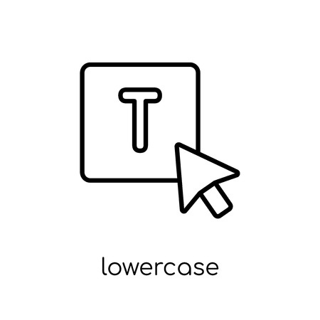lowercase icon. Trendy modern flat linear vector lowercase icon on white background from thin line Webnavigation collection, outline vector illustration Ilustração