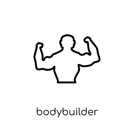 Bodybuilder icon. Trendy modern flat linear vector Bodybuilder icon on white background from thin line Gym and fitness collection, editable outline stroke vector illustration
