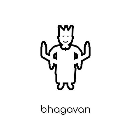 bhagavan icon. Trendy modern flat linear vector bhagavan icon on white background from thin line india collection, editable outline stroke vector illustration