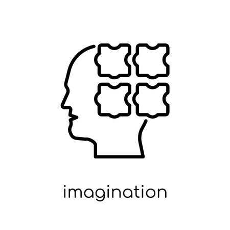 imagination icon. Trendy modern flat linear vector imagination icon on white background from thin line general collection, editable outline stroke vector illustration