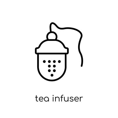 icono de infusor de té. Moda moderno icono de infusor de té vector plano lineal sobre fondo blanco de colección de cocina de línea fina, Ilustración de vector de contorno
