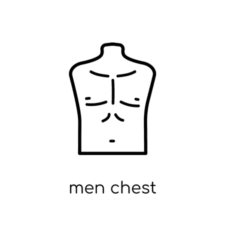 Men Chest icon. Trendy modern flat linear vector Men Chest icon on white background from thin line Human Body Parts collection, editable outline stroke vector illustration Illustration