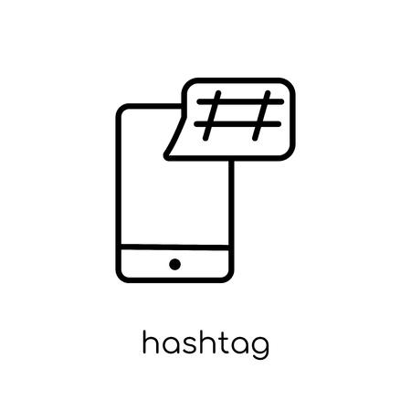 icône de hashtag. Icône moderne dernier cri de hashtag plat linéaire vectoriel sur fond blanc de la collection fine ligne, contour vector illustration Vecteurs