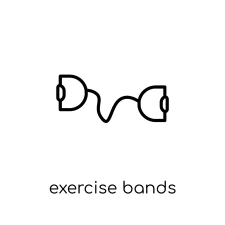 Exercise bands icon. Trendy modern flat linear vector Exercise bands icon on white background from thin line Gym and fitness collection, editable outline stroke vector illustration Standard-Bild - 112135664