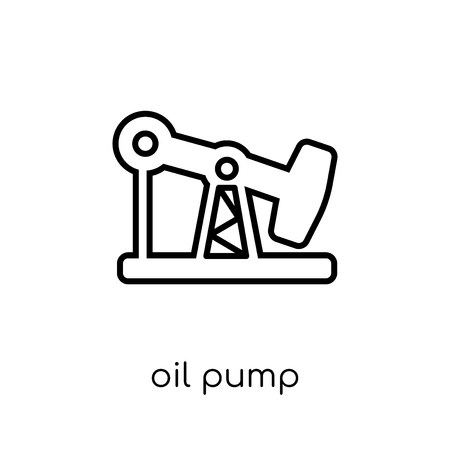 oil pump icon. Trendy modern flat linear vector oil pump icon on white background from thin line Industry collection, outline vector illustration Illustration