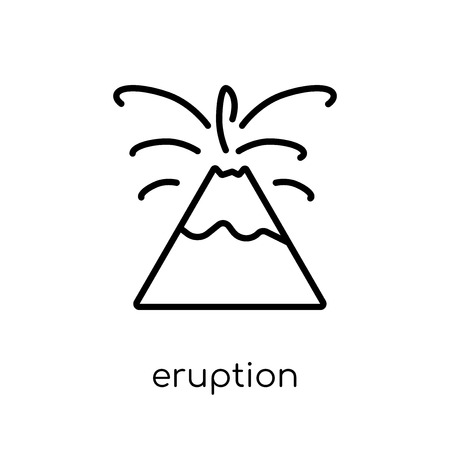 eruption icon. Trendy modern flat linear vector eruption icon on white background from thin line Weather collection, outline vector illustration