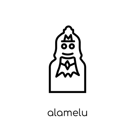 Alamelu icon. Trendy modern flat linear vector Alamelu icon on white background from thin line india collection, editable outline stroke vector illustration Illustration
