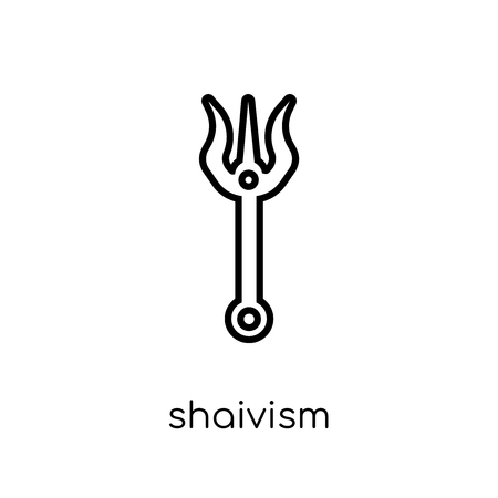 shaivism icon. Trendy modern flat linear vector shaivism icon on white background from thin line india collection, editable outline stroke vector illustration Stock Vector - 112134136