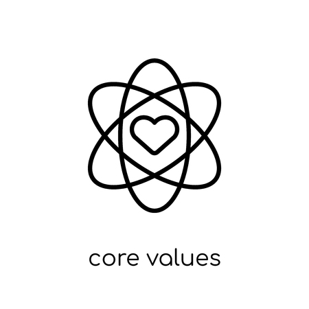 core values icon. Trendy modern flat linear vector core values icon on white background from thin line general collection, editable outline stroke vector illustration