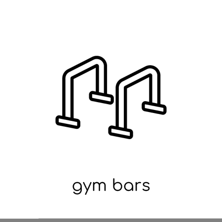Gym bars icon. Trendy modern flat linear vector Gym bars icon on white background from thin line Gym and fitness collection, editable outline stroke vector illustration