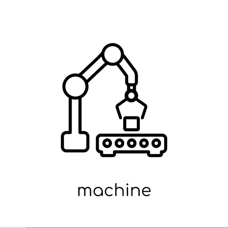 machine icon. Trendy modern flat linear vector machine icon on white background from thin line collection, outline vector illustration Ilustração