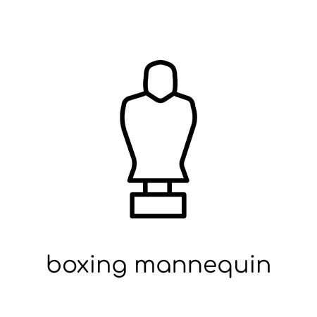 Boxing Mannequin icon. Trendy modern flat linear vector Boxing Mannequin icon on white background from thin line Gym and fitness collection, editable outline stroke vector illustration