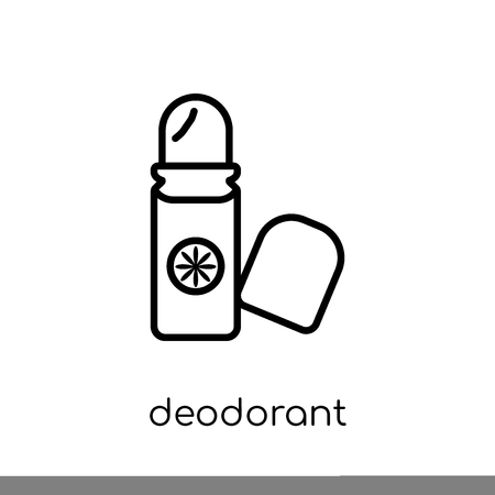 deodorant icon. Trendy modern flat linear vector deodorant icon on white background from thin line collection, outline vector illustration