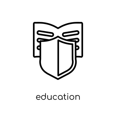 education insurance icon. Trendy modern flat linear vector education insurance icon on white background from thin line Insurance collection, editable outline stroke vector illustration Illustration