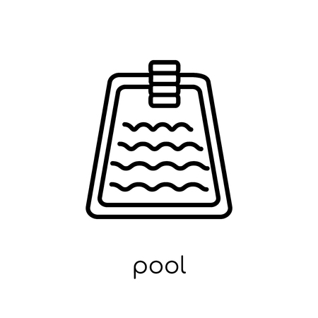 pool icon. Trendy modern flat linear vector pool icon on white background from thin line Hotel collection, outline vector illustration