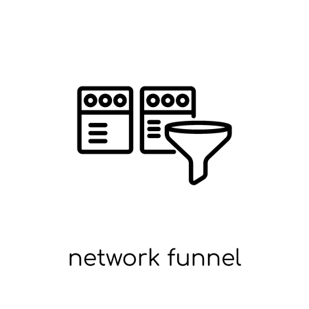 network Funnel icon. Trendy modern flat linear vector network Funnel icon on white background from thin line Internet Security and Networking collection, editable outline stroke vector illustration