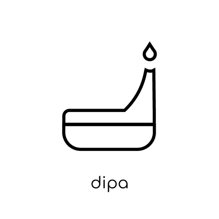 Dipa icon. Trendy modern flat linear vector Dipa icon on white background from thin line india collection, editable outline stroke vector illustration