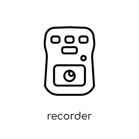 Recorder icon. Trendy modern flat linear vector Recorder icon on white background from thin line law and justice collection, editable outline stroke vector illustration