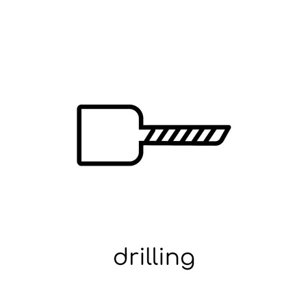 drilling icon. Trendy modern flat linear vector drilling icon on white background from thin line Industry collection, outline vector illustration