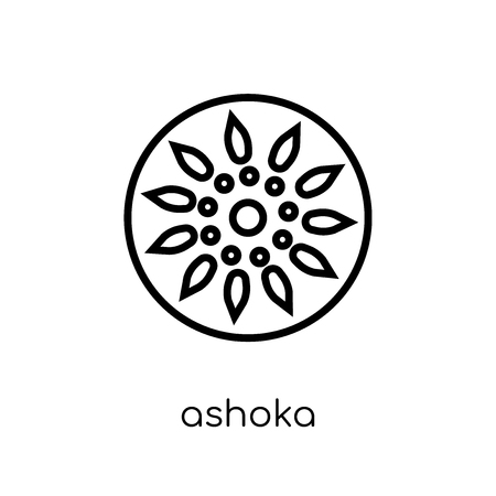 Ashoka icon. Trendy modern flat linear vector Ashoka icon on white background from thin line india collection, editable outline stroke vector illustration