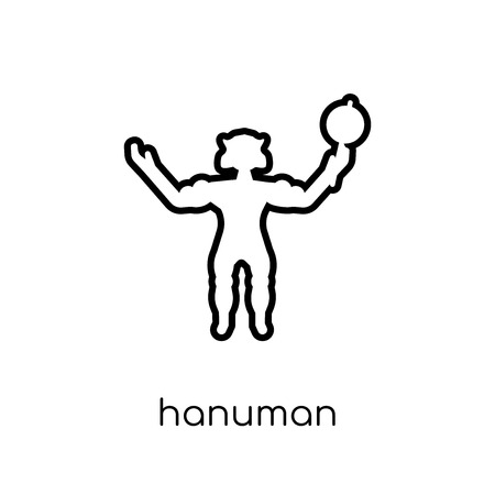 Hanuman icon. Trendy modern flat linear vector Hanuman icon on white background from thin line india collection, editable outline stroke vector illustration Illustration