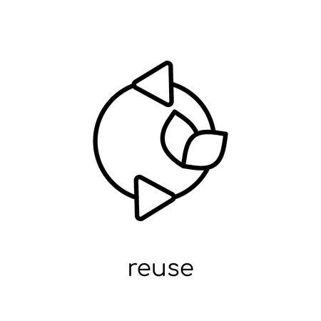 reuse icon. Trendy modern flat linear vector reuse icon on white background from thin line Ecology collection, outline vector illustration Иллюстрация
