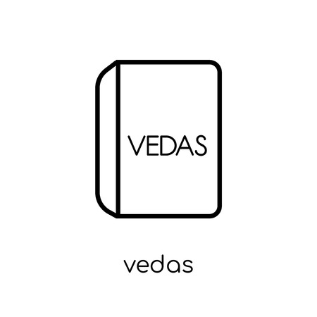 vedas icon. Trendy modern flat linear vector vedas icon on white background from thin line india collection, editable outline stroke vector illustration