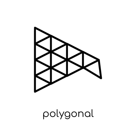 polygonal megaphone icon. Trendy modern flat linear vector polygonal megaphone icon on white background from thin line Geometry collection, outline vector illustration Illustration