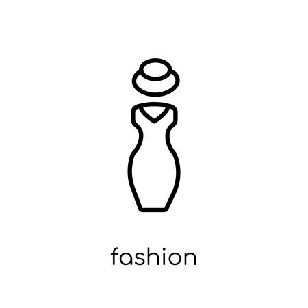 Fashion icon. Trendy modern flat linear vector Fashion icon on white background from thin line Luxury collection, editable outline stroke vector illustration