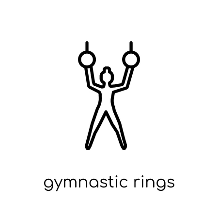Gymnastic Rings icon. Trendy modern flat linear vector Gymnastic Rings icon on white background from thin line Gym and fitness collection, editable outline stroke vector illustration