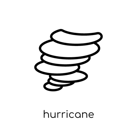 hurricane icon. Trendy modern flat linear vector hurricane icon on white background from thin line collection, outline vector illustration Illustration