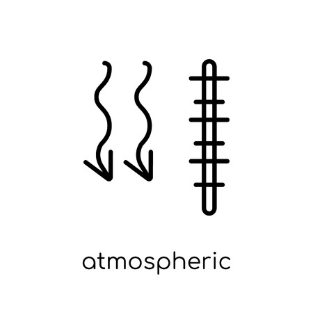 atmospheric pressure icon. Trendy modern flat linear vector atmospheric pressure icon on white background from thin line Weather collection, outline vector illustration
