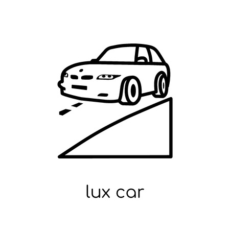 lux Car icon. Trendy modern flat linear vector lux Car icon on white background from thin line Luxury collection, editable outline stroke vector illustration