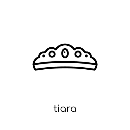Tiara icon. Trendy modern flat linear vector Tiara icon on white background from thin line Luxury collection, editable outline stroke vector illustration 일러스트