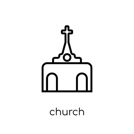 Church Icon icon. Trendy modern flat linear vector Church Icon icon on white background from thin line Maps and Locations collection, editable outline stroke vector illustration