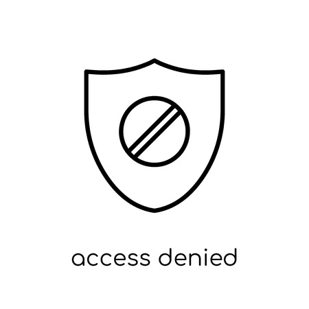 Access denied icon. Trendy modern flat linear vector Access denied icon on white background from thin line Internet Security and Networking collection, editable outline stroke vector illustration Stock Vector - 111332708